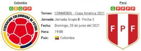 Resultado Colombia 1 - 2 Perú 20 de Junio Copa Amé...