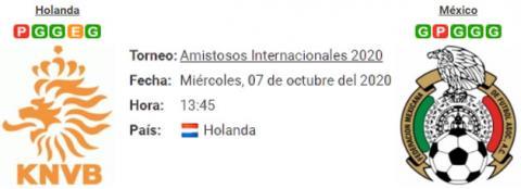 Resultado Holanda 0 - 1 México 07 de Octubre Amisto...