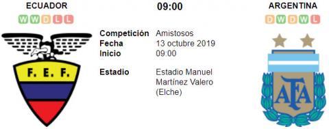 Resultado Ecuador 1 - 6 Argentina en VIVO 13 de Octu...