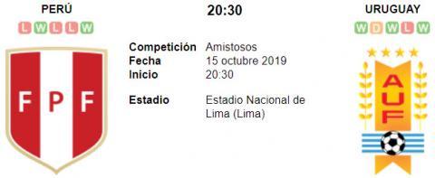 Resultado Perú 1 - 1 Uruguay 15 de Octubre Amistoso...