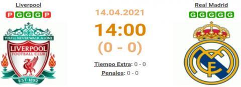 LIVERPOOL vs REAL MADRID en VIVO 14 de Abril 2021 (D...