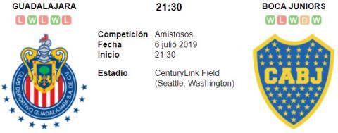 Resultado Chivas de Guadalajara 0 - 2 Boca Juniors 0...