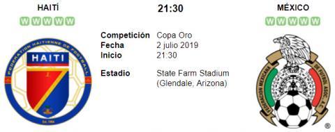 Resultado Haití 0 - 1 México 02 de Julio Copa Oro 2019