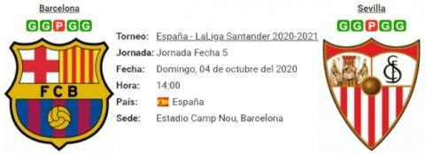 Resultado Barcelona 1 - 1 Sevilla 04 de Octubre LaLi...