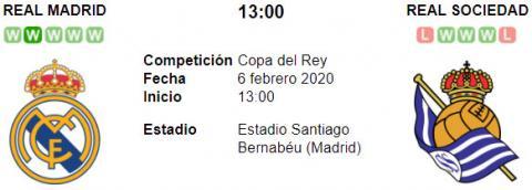 Resultado Real Madrid 3 - 4 Real Sociedad 06 de Febrero Copa del Rey 2020