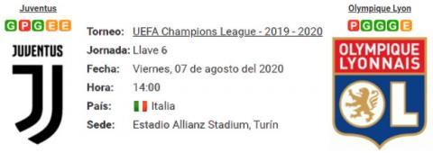 Resultado Juventus 2 - 1 Olympique Lyon 07 de Agosto...