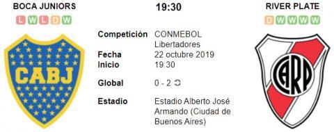 Resultado Boca Juniors 1 - 0 River Plate 22 de Octubre Copa Libertadores 2019