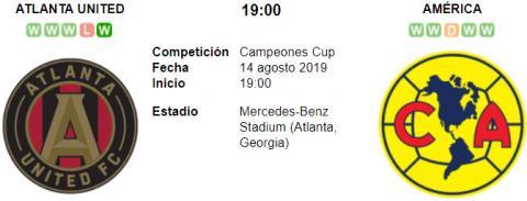 Resultado Atlanta United 3 - 2 América 14 de Agosto FINAL Campeones Cup 2019