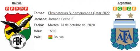 Resultado Bolivia 1 - 2 Argentina 13 de Octubre Elim...