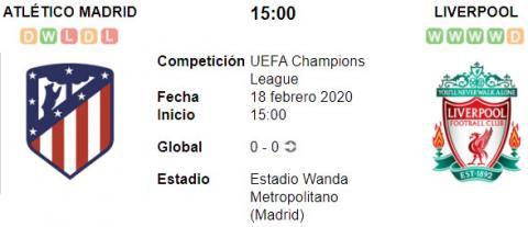Resultado Atlético de Madrid 1 - 0 Liverpool 18 de ...