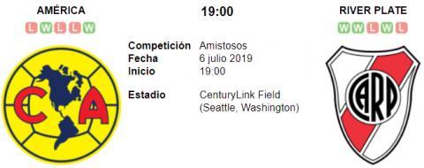 Resultado América 0 - 2 River Plate 06 de Julio Ami...