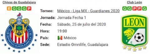 Resultado Chivas de Guadalajara 0 - 0 León 25 de Ju...