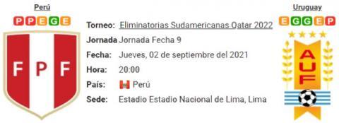 Resultado Perú 1 - 1  Uruguay 02 de Septiembre Eliminatorias Mundial Qatar 2022
