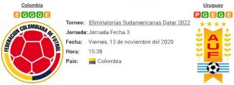 Resultado Colombia 0 - 3 Uruguay 13 de Noviembre Eliminatorias Mundial Qatar 2022