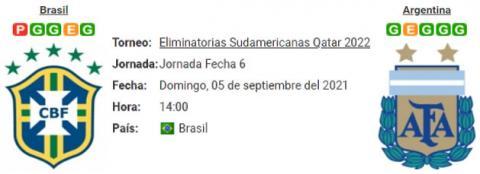 Resultado Brasil 0 - 0 Argentina 05 de Septiembre Eliminatorias Mundial Qatar 2022